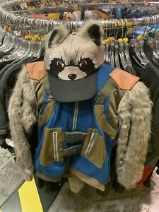 Guardians of the Galaxy RocketRacoon Hooded Sweater Jacket size9/10 matching Hat