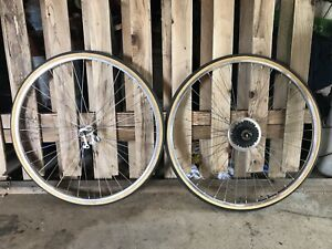Vintage NOS Schwinn Weinmann 27 X 1 1/4 Complete Wheel Set ~ Made in Belgium