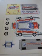maquette en carton a monter,vehicule de médecin d'urgence, VW touran (tiroi01)