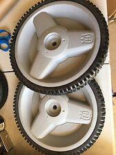 """Two New Husqvarna Semi-Pneumatic Plastic Wheels 12 x 2 ~ 1/2"""" ID x 1-3/4"""""""