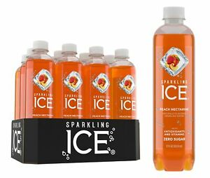 Sparkling Ice Peach Nectarine Sparkling Water, with Antioxidants and Vitamins...