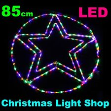 Multicolour circle star Outdoor Christmas Ropelight Xmas Rope Light LED 85cm