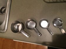 stainless steel 4 piece stackable measuring cups