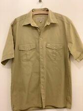 Camel Collection Authentic Tradition Size M Khaki Safari Shirt Short Sleeve