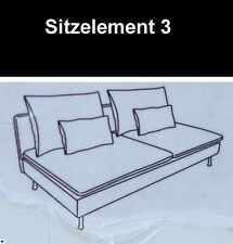 Gräsbo weiß, IKEA Söderhamn Couch, Sofa Bezug, Husse f. 3er Sitzelement Sofa NEU