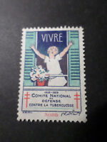 FRANCE, 1928 VIGNETTE ANTITUBERCULEUX VIVRE, NORD C/ TUBERCULOSE, neuf, VF LABEL
