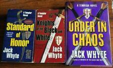 COMPLETE SET of (3) JACK WHYTE Historical Thriller Books TEMPLAR TRILOGY SERIES