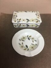 Wedgwood Beaconsfield Cigarette Trinket Box with Lid & Ashtray Set England*