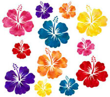 20   water slide nail decals Diy Manicure colorful Hibiscus flower mixture