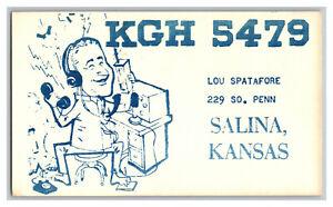 QSL Radio Card From Salina Kansas KGH 5479