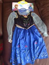 New Disney Frozen ANNA Costume Sz 7+ M(for 7-8) with wig,petticoat,vest