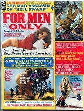 For Men Only Magazine March 1973- nudist ski lodge- biker gangs VG