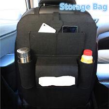 Respaldo del asiento de coche bolsa de almacenamiento de varios bolsillos Organizador De Viaje Titular Accesorio Negro