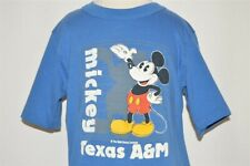 vtg 80s MICKEY DISNEY TEXAS A&M UNIVERSITY BLUE t-shirt COLLEGE YOUTH SMALL YS