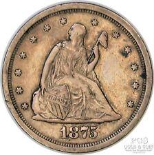 1875-S Twenty Cent Piece 20c US Silver Coin San Francisco 19006