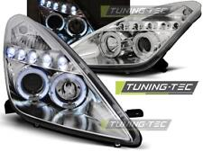 FARI ANTERIORI HEADLIGHTS TOYOTA CELICA T230 99-05 ANGEL EYES CHROME*1319