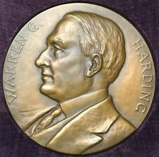 WARREN G. HARDING PRESENTATION MEDAL - Inaugurated 1921 -w/ Original Case - HUGE