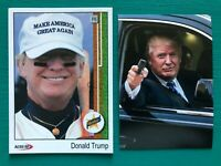 DONALD TRUMP 1989 Upper Deck Baseball Card Ken Griffey Rookie + BONUS Sticker!!!
