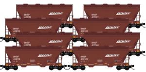 Micro Trains BNSF 2-Bay Covered Hopper 8-Car Runner Pack N Scale 993-00-819