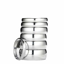 White Tungsten Carbide Wedding Ring Mens Womens 2, 3, 4, 5, 6, 7, 8, 10mm