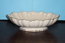 "Lenox Symphony Centerpiece Bowl 10.75"" X 7.5"" X 2.75""H Gold Trim Never Used"