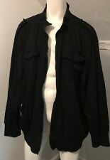 ROCAWEAR AUTHENTIC MENS BLACK JACKET SIZE 3XL - MISSING ZIPPER
