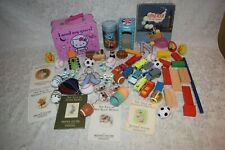 Children's Junk Drawer Lot Lunch Box, Marbles, Toy Cars, Books, Disney Ornaments
