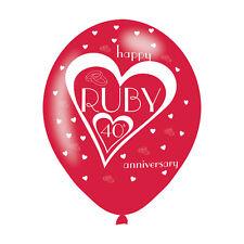6 X 40. Hochzeitstag Rubin Hochzeit Jubiläum Luftballons