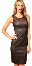 Karen Millen Double Layer Pencil Dress UK Size 10 Black Mesh Wiggle DN220