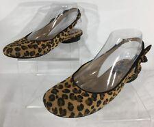 A.N.A  A New Approach Women's Shoes Ballet Flats Cheetah Pattern Size 6.5 M
