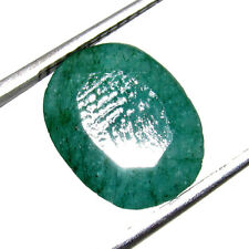 Awesome 4.30Cts Translucent Natural Colombian Emerald Oval Cut Gemstone CH 6828