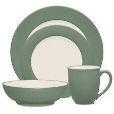Noritake Colorwave Green Rim 48Pc Dinnerware Set, Service for 12