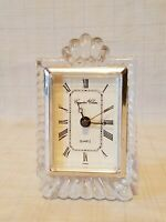 CRYSTAL CLEAR 24% Lead Crystal Clock battery operated - working  - made Taiwan