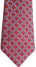 "Royal Knight Men's Silk Tie 57.5"" X 3.25"" Burgundy w/ Multi-Color Criscross"