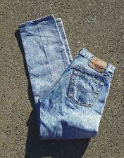 VINTAGE 501 LEVI'S ACID Wash Jeans Made In USA Button Fly Straight Leg Jeans