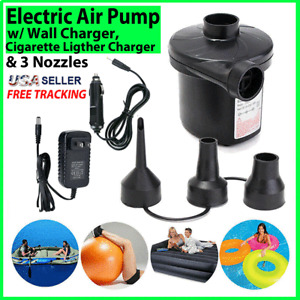 Electric Air Pump for Inflatables Air Mattress Raft Bed Boat Pool Portable Quick