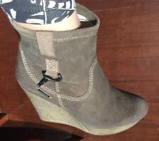 Diesel new 💞leather Boots Wedges Shoes marked 40 Fits 40.5 Or 9.5 + Dust Bag