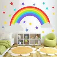 Rainbow Stars Wall Sticker Kids Bedroom Window Decals Vinyl Art Murals Rem Gw
