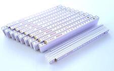10 x Qualitäts Zollstöcke 2m Weiß Winkelanzeige Zollstock Meterstab Meterstäbe
