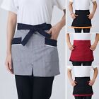 Chef Aprons Restaurant Canteen Waiter Cooking Workwear Waist Apron With Pockets