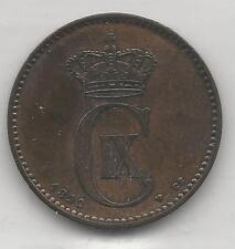 DENMARK, 1892, 2 ORE, BRONZE, KM#793.1,  EXTRA FINE