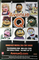 Avenue Q Off Broadway New World Stages Tony Award Winning Musical Window Card