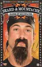 Bad Biker Beard & Moustache Black Fancy Dress Halloween Adult Costume Accessory