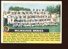 1956 Topps Baseball Card #95 Milwaukee Braves Team EXMT