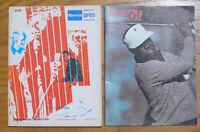 Lot of 2 1970's PGA Tournament Programs, Greater Milwaukee Open, Kemper Open