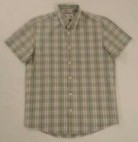 Levis Mens Classic Fit Short Sleeve Check Casual Collared Shirt Red Tab Size M
