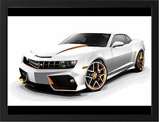 CHEVROLET CAMARO TUNING 2012 NEW A3 FRAMED PHOTOGRAPHIC PRINT POSTER