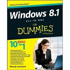 Windows 8.1 All-in-one For Dummies, Leonhard, Woody, Very Good, Paperback