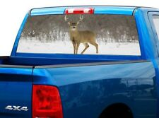 P446 Deer Buck Rear Window Tint Graphic Decal Wrap Back Pickup Graphics