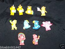 Vintage Lot of 10 1983-1984 Care Bears and Cousin Lots-a-Heart Elephant PVC Mini